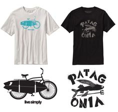Patagonia T-shirts we did. Illustrations by Bethany NG. Art Director Drew Dougherty.