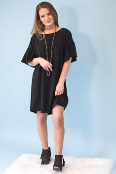Lolly Bell Sleeve Shift Dress-[product_description]-[product_tag]-Stella B. Clothing