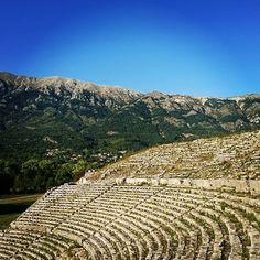 Δωδώνη! The Magic Oracle of Epirus! Greek Memories - Part 4. . . . . . . . #adventure #amazing #ancient #amphitheatre #august #balkan #bucolic #countryside #dodoni #earlymorning #epirus #ελλαδα #greece #green #ηπειρος #mediterranean #mountains #notouristsformiles #oaktree #oracle #quiet #sacred #stone #summer #theonlytourists #travel #valley #wanderlust Oak Tree, Countryside, Vineyard, Greece, Wanderlust, Magic, Memories, Adventure, Mountains