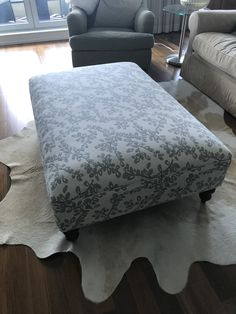 We are a Toronto-based home decorating studio focusing on window coverings, general contracting, home consulting, and upholstery. Upholstered Ottoman, Window Coverings, Upholstery, Chair, Furniture, Home Decor, Tapestries, Decoration Home, Room Decor