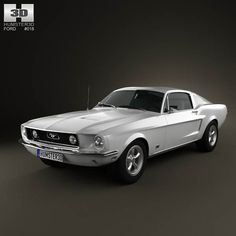 Ford Mustang GT 1967 3d model from humster3d.com. Price: $75