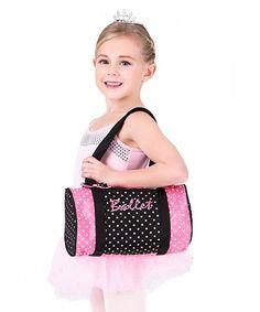 Dancin' Dots Ballet Duffle Bag - Style No Cute Gym Bag, Cute Laptop Bags, Laptop Bag For Women, Ballet Bag, Side Bags, Messenger Bag Men, Satin Bows, Duffel Bag, Fashion Bags