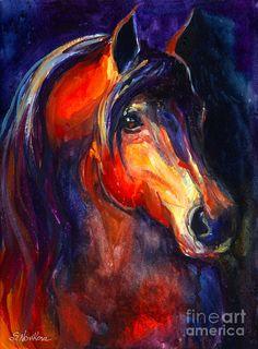 Artist: Svetlana Novikova http://fineartamerica.com/featured/soulful-horse-painting-svetlana-novikova.html