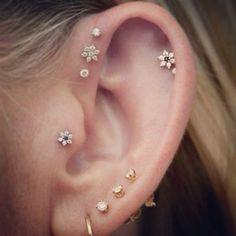 Second ear piercing idea, combination