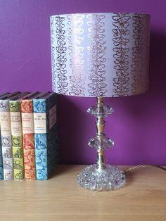 Gilded silk lampshade Hand Printed Fabric, Home, Space Interiors, Fabric, Lampshades, Original Designs, Prints, Home Decor, Silk Lampshade