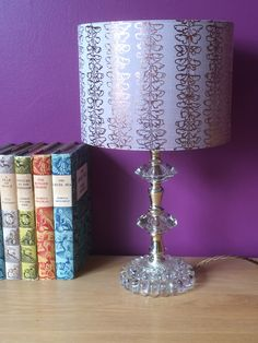 Gilded silk lampshade