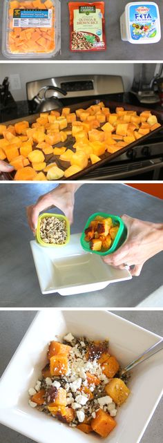 3 Zutaten Fix: Butternut Squash + Feta - 21 Day Fix - 21 Day Fix Diet, 21 Day Fix Meal Plan, Healthy Snacks, Healthy Eating, Healthy Recipes, Diet Snacks, 21 Day Fix Quinoa Recipes, 21 Day Fix Vegetarian, Diet Recipes