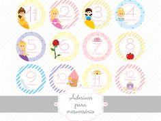 Adesivos para mesversário Princesa » Adesivos para Mesversário » Estúdio Tuty