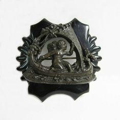 Antique Victorian Mourning Brooch Goth Gutta by WickedDarling