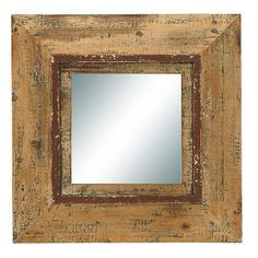 Distressed wood wall mirror. Product: Wall mirrorConstruction Material: Wood and mirrored glassColor: