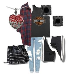 """""""Feature Flannel"""" by rachel-steenbergh ❤ liked on Polyvore featuring Topshop, Harley-Davidson, Monki, Keds, STELLA McCARTNEY and Lord & Taylor"""