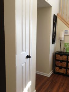 I like white doors with black door knobs. | for the home | Pinterest ...