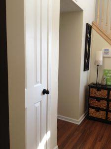 painting the front door love the colored door with black door