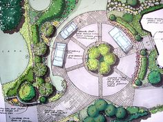 Build Your Waterfall In Your Driveway Roundabout Water . U Shaped Driveway Landscaping. Change The Appearance Of Your Home With A Driveway . Circle Driveway Landscaping, Driveway Border, Driveway Design, Gravel Driveway, Circular Driveway, Driveway Ideas, Garden Design Plans, Entrance Gates, Driveway Entrance
