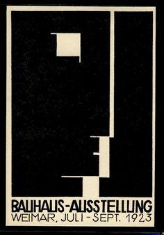 #Poster #Bauhaus #Exhibition #Weimar 1923