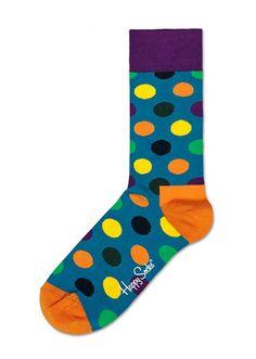 Happy Socks Big Dot Blue/ Green/ Pruple/ Orange http://www.urbanclassics-shop.nl