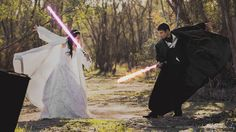 Krystel Ciocon and Earle Doudera are really, really big fans of Star Wars. | This Couple's Star Wars-Themed Wedding Pictures Are Intensely Awesome