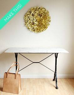 How To: Make a Giant Gold Wall Pouf » Curbly | DIY Design Community