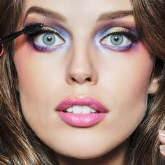 Electric Raver 1980s Makeup - Emily DiDonato By Vicente - Maybelline