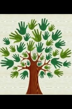 Illustration of Eco friendly tree hands illustration for greeting card over wooden pattern. file layered for easy manipulation and custom coloring. vector art, clipart and stock vectors. Fall Crafts, Diy And Crafts, Arts And Crafts, Paper Crafts, Hand Illustration, Diy For Kids, Crafts For Kids, Wooden Pattern, Preschool Crafts