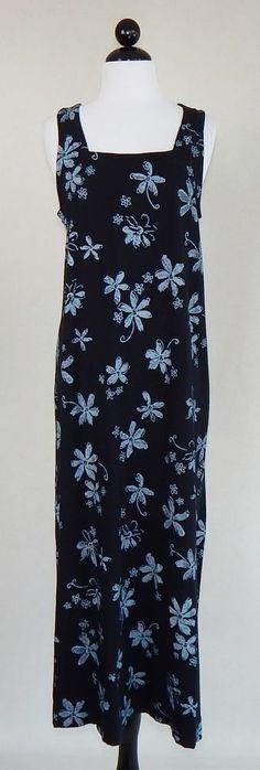 FRESH PRODUCE Black Floral Sleeveless Maxi Tank Summer Vacation Dress Size M #FreshProduce #SundressMaxiBeachDress #Casual