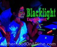 I have an amazingly creative friend who put together a memorable event for our Classical Conversations Christmas Party in December! After we had CC and lunch, we had a Blacklight Party for the kids. I don't think I will ever forget the experience–and the girls still talk about it all the time!  Blacklight Party …