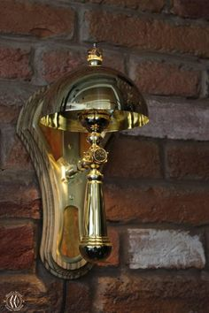 """Steampunk wall lamp """"Lucerna"""" • MarCoWood • Steampunk Lab. Sconces Living Room, Wall Sconces, Steampunk Desk, Wall Light Fixtures, Handmade Lamps, Sconce Lighting, Glass Domes, Red Glass, Wall Lights"""