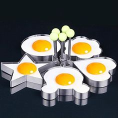 Home & Garden Dedicated Creative Stainless Steel Cooking Shaper Mould Frying Pan Fried Egg Mold Pancake Ring Circle With Five Shapes Pleasure Breakfast