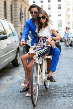 La mode à vélo... Milan.