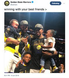 JaVale McGee's adorable baby cried through the entire Warriors trophy ceremony Baby Crying Face, Cute Babies, Champion, Daughter, Warriors, Golden State, Basketball, Funny Babies, Daughters