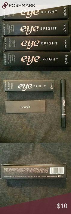 Benefit Eye Brightener Brand new and unopened. Instant eye brightener. .05 OZ Benefit Makeup Eyebrow Filler