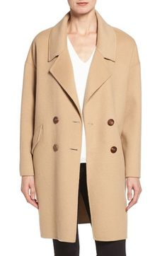 4ba50c0b3d Diane von Furstenberg Double Breasted Walking Coat available at  Nordstrom  Oversized Coat