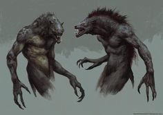 more Werewolves, Brent Hollowell on ArtStation at http://www.artstation.com/artwork/more-werewolves