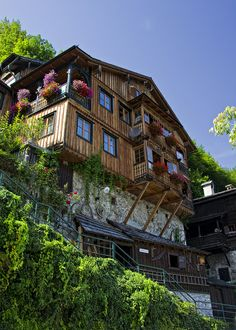 Hallstatt, Upper Austria, Austria - on our honeymoon we stayed in a tiny room at the very top left, above the balcony with the flowers.  It was so cold and we had no heat. 1986