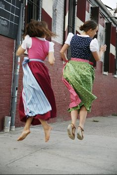 Fun, DIY, full-length Dirndl dresses