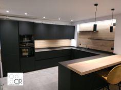 Modern Kitchen Cabinets, Kitchen Cabinet Design, Modern Kitchen Design, Kitchen Decor, Hidden Doors In Walls, Küchen Design, House Design, Room Decor, Dining