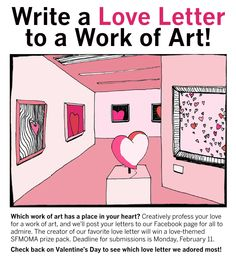 Valentines day - art history/criticism activity I hope SFMOMA does this again next year! Art Education Lessons, Art Lessons Elementary, Middle School Art, Art School, Art Analysis, Classe D'art, Art Critique, Art Handouts, Museum Education