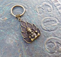 Large ganesha keychain elephant key chain zen boho bohemian hindu buddha budhist indie best friend gifts birthday gift small gifts car accessories keyring key ring for only $3.99 by BubbleGumGraffiti