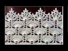 Crochet: diamante diagrama de punto de encaje - YouTube
