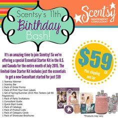 Wickless candles and scented fragrance wax for electric candle warmers and scented natural oils and diffusers. Shop for Scentsy Products Now! Happy 11th Birthday, Birthday Bash, Birthday Celebration, Join Scentsy, Month Of July, July 1, September, Scented Wax Warmer, Scentsy Independent Consultant
