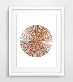 Pick up Stix is a digital drawing of colored lines arranged in a circular shape. Your Instant Download Includes: 1) 4 x 6 PDF (Set up on 8.5x11 paper) 2) 5 x 7 PDF (Set up on 8.5x11 paper) 3) 8 x 10 PDF (Set up on 8.5x11 paper) 4) 11 x 14 PDF (Set up on 11x17 paper) 5) 18 x 24 PDF 6) 18 x 24 JPEG 300 dpi high resolution image for printing sizes up to 18x24.  3 WAYS TO PRINT: -Instantly print out this artwork from your home computer. -Email the files to your local printer like Fedex/Kink...