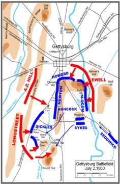 This was the battle strategy for Gettysburg  Blue  Gray