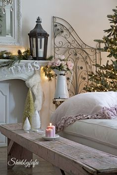 French Cottage Decor for Christmas from Shabbyfufu.