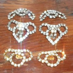 SOLD $24.00 Vintage Rhinestone Shoe Clip Lot by feathersoup on Etsy  SOLD