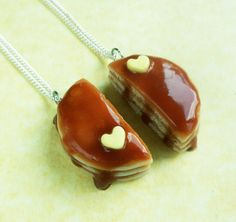polymer clay pancake bff best friend necklaces friendship jewelry