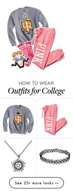 """""""sempai :3"""" by your-best-friend on Polyvore featuring Victoria's Secret PINK and P.S. from Aéropostale"""
