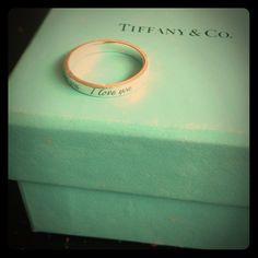 """""""I Love You"""" Tiffany Ring. Zlochin Zlochin Zlochin Zlochin Davidson I would die. This is beautiful! Tiffany And Co, Tiffany Blue, I Love You Ring, Birthday List, Girls Best Friend, Valentine Day Gifts, Valentines, Just In Case, Dream Wedding"""