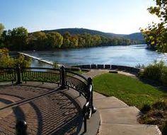 The confluence of the mighty Susquehanna & Chenango Rivers in Binghamton, NY.
