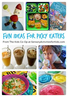 Fun Food Ideas for Picky Eaters + The Weekly Kids Co-Op at SensoryActivitiesforKids #kids #funfood #sensory #kbn