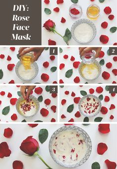 Try this moisturizing DIY: Rose Face Mask to prevent dry, itchy, and irritated skin this season. Ingredient List: 6 Fresh Rose Petals, 2 Tbsp. Rosewater, 1 Tbsp. Natural Yogurt and 1 Tbsp. Honey.